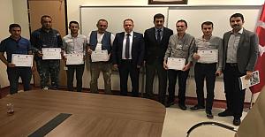 Başarılı personel Başhekim Altay tarafından ödüllendirildi