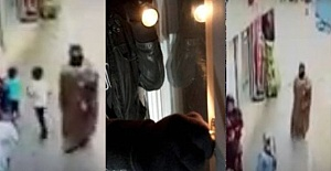Kumaş çalan hırsız güvenlik kamerasına yakalandı