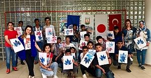 Türk ve Suriyeli çocuklar hem eğlendiler hem öğrendiler
