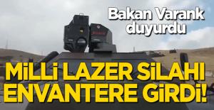 Bakan Açıkladı: Milli lazer silahı ARMOL TSK envanterine girdi