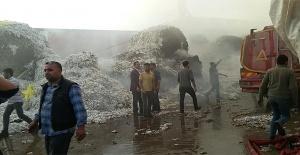 Akçakale'de fabrika yangın çıktı