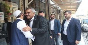 HÜDA PAR İl Başkanı Erat'dan Akçakale esnafına ziyaret