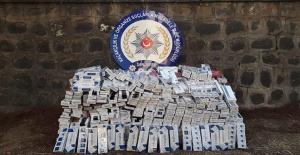 Şanlıurfa - Adıyaman Karayolunda kaçak sigara ele geçirildi