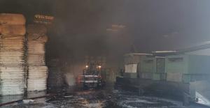 Şanlıurfa'da fabrikada yangın çıktı