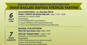 Urfa Barosu Hakları Haftasını Kutlayacak!