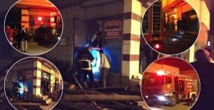 Ceylanpınar'da bir iş yerinde yangın çıktı