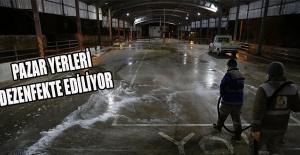 Şanlıurfa'da pazar yerleri dezenfekte ediliyor