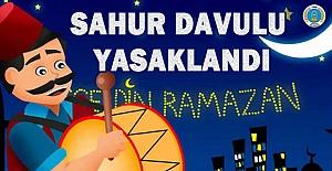 Urfa#039;da Sahur Davulcusuna Yasak...