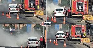 Akabe'de Seyir Halindeki Otomobil Yandı