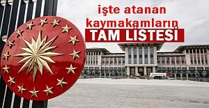 Erdoğan İmzaladı! 97 İlçeye Kaymakam Ataması Yapıldı