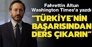"""Fahrettin Altun ABD Gazetesine Yazdı:  """"Türkiye salgınının seyrini değiştirdi"""""""