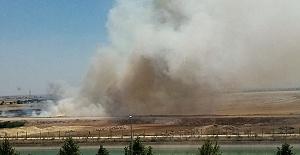 Urfa'da Anız Yangını İnsan Hayatını Tehdit Ediyor
