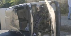 Akabe yokuşunda trafik kazası: 2 yaralı