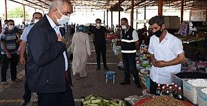Başkan Aslan Ali Bayık Semt Pazarını Ziyaret Etti