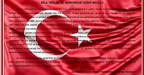 İlahiyat ve İslami İlimler Fakülteleri Dekanlar Konseyinden 15 Temmuz Mesajı