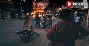 İşte Telabyad merkezinde yaşanan o bombalı saldırının görüntüleri