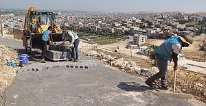 Eyyübiye Belediyesi, Muradiye Mahallesinin yollarını Döşüyor