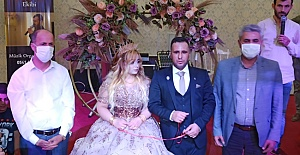 Urfa'da Gazinin Nişan Yüzüğünü Başkan Yavuz Taktı