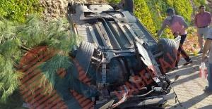 Akabe TOKİ Yolu'nda trafik kazası: araç takla attı