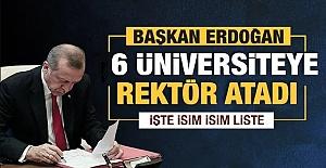 Cumhurbaşkanı Erdoğan'dan Son Dakika Rektör atamaları...
