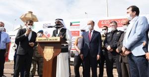 Kuveytli Hayırseverler Suriyelilere 5 Tır İnsani Yardım Gönderdi