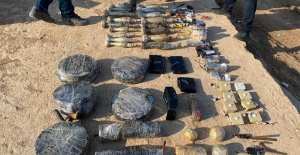 Rasulayn'da PKK/YPG'ye ait cephanelik ele geçirildi
