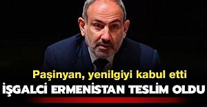 Ermenistan Başbakanı Paşinyan Yenilgiyi Kabul Etti