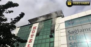 Otel'de yangın çıktı, mahsur kalanlar kurtarıldı