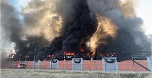 Harran Üniversitesi Osmanbey Kampüsünde Lojistik Deposunda Büyük Yangın