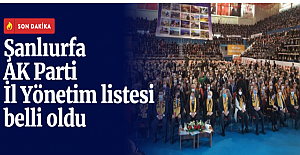 AK Parti Şanlıurfa İl Yönetimi...