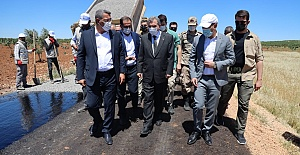Başkan Beyazgül Suruç'a Çıkarma Yaptı