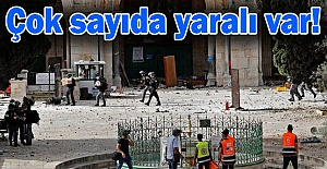 Terörist İsrail'den Mescid-i Aksa'da nöbet tutanlara saldırı