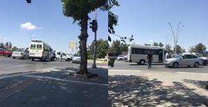 Emniyet Caddesi'nde 3 araç birbirine girdi!