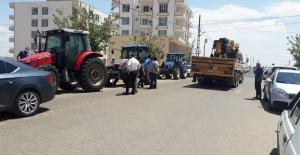 Hilvanlı çiftçiler elektrik kesintisinden bıktı eylem yaptılar