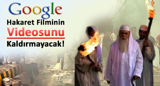 Google Hakaret Filminin Videosunu Kaldırmayı Redetti