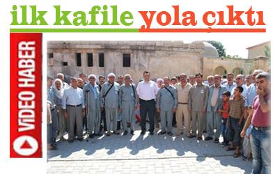 Urfa'dan Kutsal Topraklara Yolculuk Başladı