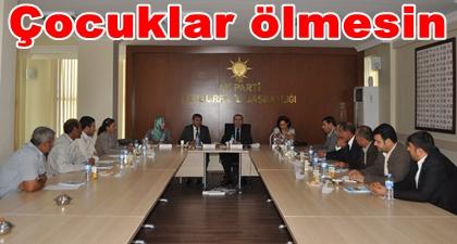 AK Parti AR-GE toplantısında Akçakale bombalanması konuşuldu