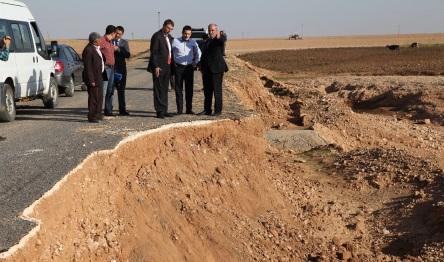 Sel'in yıktığı Harran'ın yolları yapılıyor