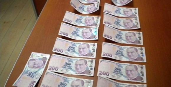 3 bin 100 adet sahte Türk Lirası ele geçirildi