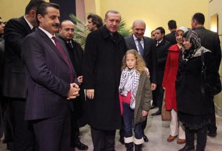 Filistinli Cesur kız Şanlıurfa'da Erdoğan'la görüştü