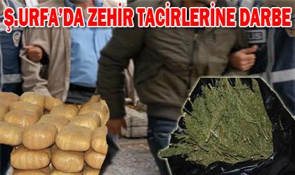 Şanlıurfa'da zehir tacirlerine darbe; 55 tutuklama
