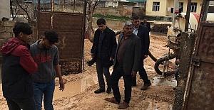 Yağıştan dolayı Harran'da evler zarar gördü