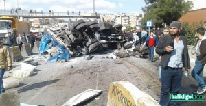 Şanlıurfa'da freni boşalan kamyon dehşet saçtı
