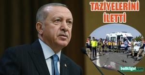Başkan Erdoğan'dan Şanlıurfa'daki kazayla ilgili taziye mesajı