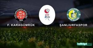 Şanlıurfaspor'un Play-Off rakibi Fatih Karagümrük oldu