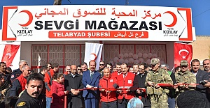 Türk Kızılay'ı Tel Abyad Sevgi Mağazası Açıldı
