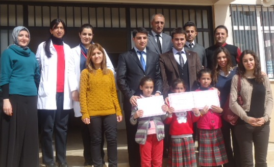 Günbalı İlkokul ve Ortaokulu, İstiklâl Marşı'nın Kabulü yıl dönümünü kutladı