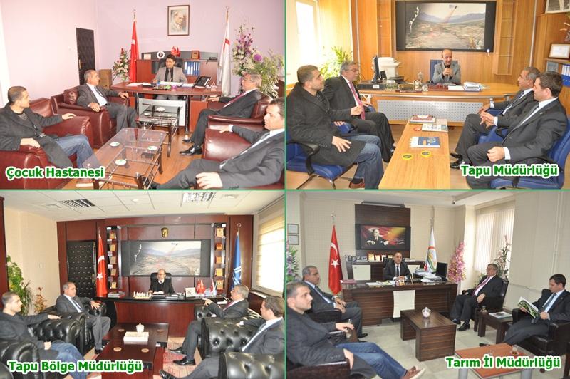 AK Partiden kurumlara ziyaret