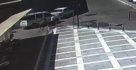 Hırsızlık anı güvenlik kamerasında VİDEO