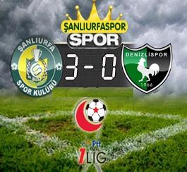 Şanlıurfaspor, Denizlispor'u 3 golle geçti